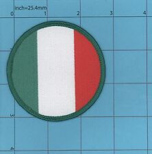 Italyl Flag Iron on Patch Italia Rome Pope ROUND QUALITY EMBROIDERY soccer