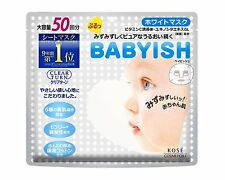 Face Mask KOSE CLEAR TURN BABYISH white mask 50 sheets Made in Japan F/S