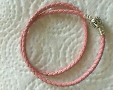 2d3ff1661 pandora pink leather double bracelet 35cm long( small)