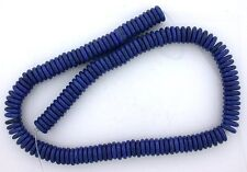 10mm x 3mm.Flat Disc Rondelle Magnesite Blue Lapis Color Bead 15 Inch Strand