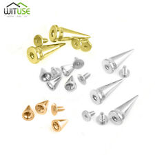 Cone Screw Back Metal Studs Leather-craft Rivet Bullet Spikes Spots 10mm/26mm B