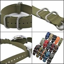 Watch Band Military Style Nylon Material Strap and Heavy Duty Brushed Buckle