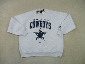 NEW VINTAGE Dallas Cowboys Sweater Adult Extra Large Gray Football Mens 90s *