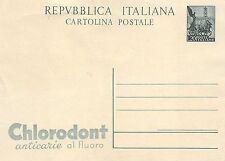 C4559) INTERO REPUBBLICA, QUADRIGA 20L. PUBBLICITA' CLORODONT.