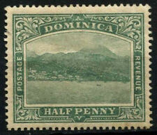 Dominica 1908-20 SG#47, 1/2d Blue-Green Wmk Crown To Right MH #D27031