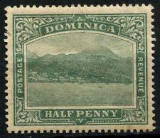 Dominica 1908-20 SG # 47, 1 / 2D BLU-VERDE wmk colmo stradale a destra MH #D 27031