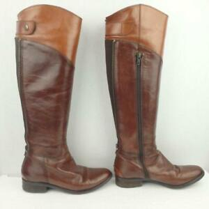 Clarks Leather Boots UK 3 Eur 36 Womens Ladies Shoes Pull on Brown Boots