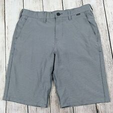 Hurley Dri-Fit Mens Hybrid Shorts 30 Gray Pinstripe Stretch Board Dress Casual