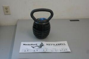 NordicTrack 40 lb. Adjustable Kettlebell Black/Silver 10,15,20,25,30,40 LBS(10F)