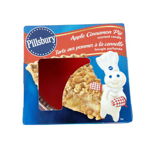 NIB Pillsbury Doughboy Apple Cinnamon Pie Candle 3 oz Made in USA