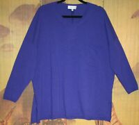 "SAHARA Gorgeous Wool & Cashmere Mix Relaxed Fit Jumper in Violet M/L 56""CH BNWT"