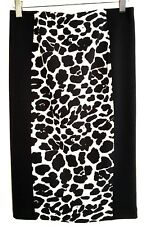 Anthropologie Robbi & Nikki Women Small Skirt Pencil Black Straight Leopard Sexy