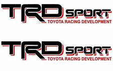 TRD Vinyl Decal /Vinyl Stickers BLACK / RED, Toyota Sport Racing.(3x18 inch).