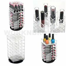 Beauty Makeup Case Spinning Lipstick Tower Acrylic Cosmetic Organizer Rotating
