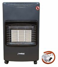 Mobile Gas Heater Cabinet Room Indoor Portable Ceramic Piezo Butane 4.2 kW