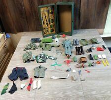 Vintage 1964 Adventure Team GI JOE footlocker Lot Tons of Accessories