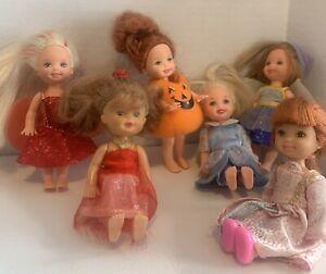Lot of Barbie Kelly Re-dressed dolls, Dress up! Fairies, Halloween, Lot of 6