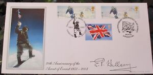 FDC signed E P Hillary, 50th Anniversary of Everest, Ltd Ed 371 of 420, 1953-03