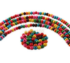 500 pcs 6x4mm Mixed color Wood Spacer loose flat beads Necklace charms findings