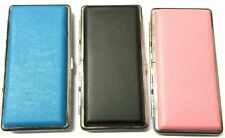 SUPER KING SIZE CIGARETTE LEATHER EFFECT HINGED CASE Holds 10 - 14 Cigarettes
