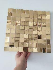Weddinggeneral®'S Sequin Wall Panels Sparkly Glitter Gold Wedding 30x30cm Square