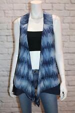 FabIndia Brand Blue Cotton Vest Size L #AN02
