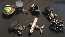 Collectible Lot of Diecast Pencil Sharpeners Car,Globe,Plane,Spinning Wheel