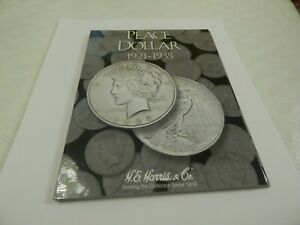 H E Harris Coin Folder Peace Dollar (also called book or album)