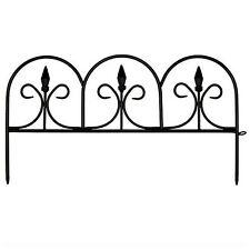 Resin Border Edging Fence Fencing Lawn Landscape Garden Flower Bed Decor Panels