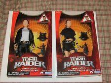 Tomb Raider lot 2 Lara Croft Dolls Motorcycle & Combat Training Gear Playmates