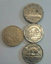 CANADA NICKLES 1928,52,53,54