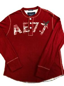 American Eagle Mens Large Long Sleeve Jersey Style Vintage Fit Shirt New Tags