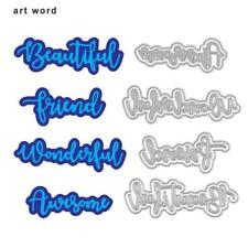 4pcs Art Words DIY Embossing Cutting Dies Stencil Scrapbooking Album Card Craft