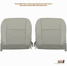2011 Lexus RX350 Driver & Passenger Bottom Perforated Leather Seat Cover Gray
