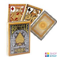 BICYCLE AURORA PLAYING CARDS PREMIUM GOLD SILVER DECK POKER MAGIC TRICKS NEW