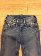 Diesel Cherock 008DW W26 L30 Size 8 UK Low Rise Bootcut Stretch Jeans Faded 36ebf6adad