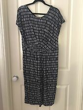 Sportscraft  Women's Navy & White Dress Size 18