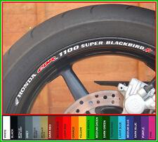 CBR1100 SUPER BLACKBIRD XX Wheel Rim Decals Stickers - cbr 1100 superblackbird