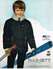 PUBLICITE  1970   RAINETT  vetements ski enfants