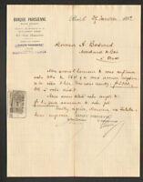 """PARIS (IX°) BANQUE """"BANQUE PARISIENNE"""" en 1892"""