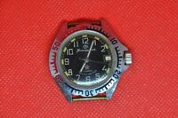 Vintage Zakaz MO USSR VOSTOK Komandirskie watch Black dial yellow dots, Serviced