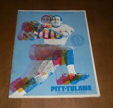 1969 PITT PANTHERS vs TULANE FOOTBALL PROGRAM - PITT STADIUM PARENTS & YOUTH DAY