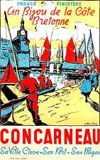Affiche touristique - Concarneau