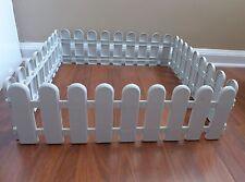 Gray Plastic Fence Home Garden Landscape Border Edge Decoration of 4 Pic