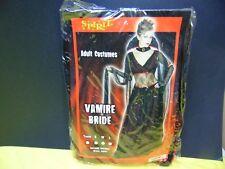 Halloween Vampire Bride Adult Costume Large Black Red 180323