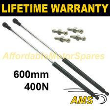 2X Muelles de gas puntales Universal Kit de coche o de conversión 600 mm 60 cm 400N & 4 Pines
