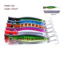 top 13cm 43g Big Popper Hard Lure Top Water Fishing Lures Crankbait Minnow Baits