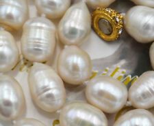 Beautiful 10-11mm Natural South Sea Baroque White Pearl Necklace 18''