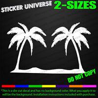 Palm Trees Tropical Car Window Decal Bumper Sticker Hawaii Paradise Beach 0389