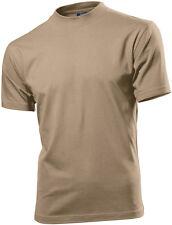 Hanes Mens Mans SAND BEIGE KHAKI Short Sleeve Cotton T-Shirt Tshirt Size Small